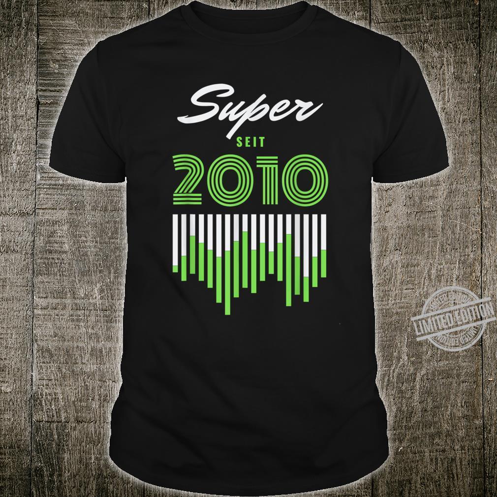 10 jahre alt 10ter geburtstag grundschule super seit 2010 Shirt