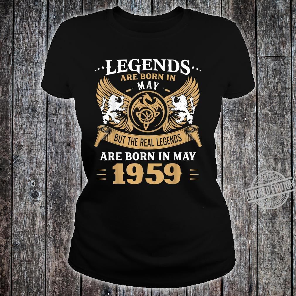61 Years Old Legends 61st Birthday Born in May 1959 Shirt ladies tee