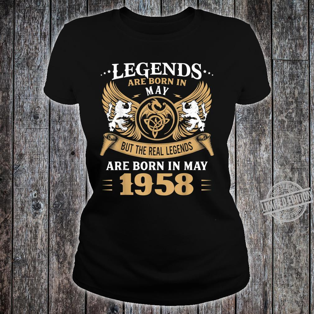 62 Years Old Legends 62nd Birthday Born in May 1958 Shirt ladies tee