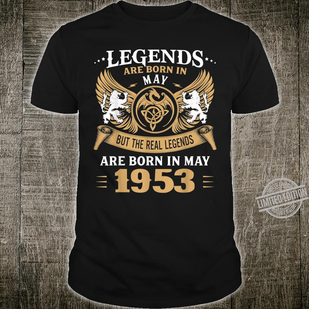 67 Years Old Legends 67th Birthday Born in May 1953 Shirt