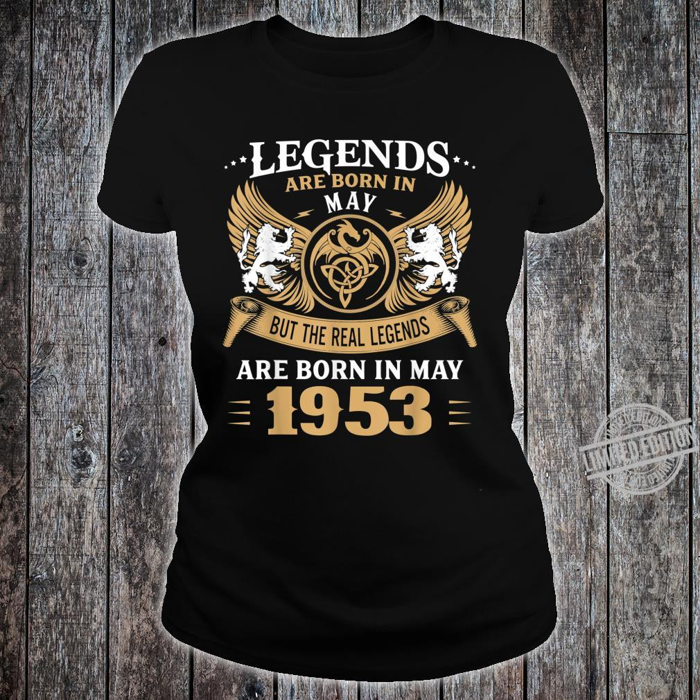 67 Years Old Legends 67th Birthday Born in May 1953 Shirt ladies tee