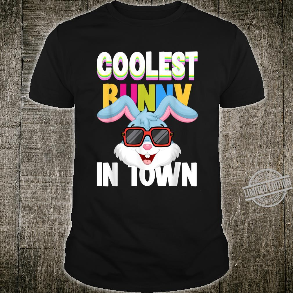 Boys Easter day Coolest Bunny In Town bunny costume Shirt