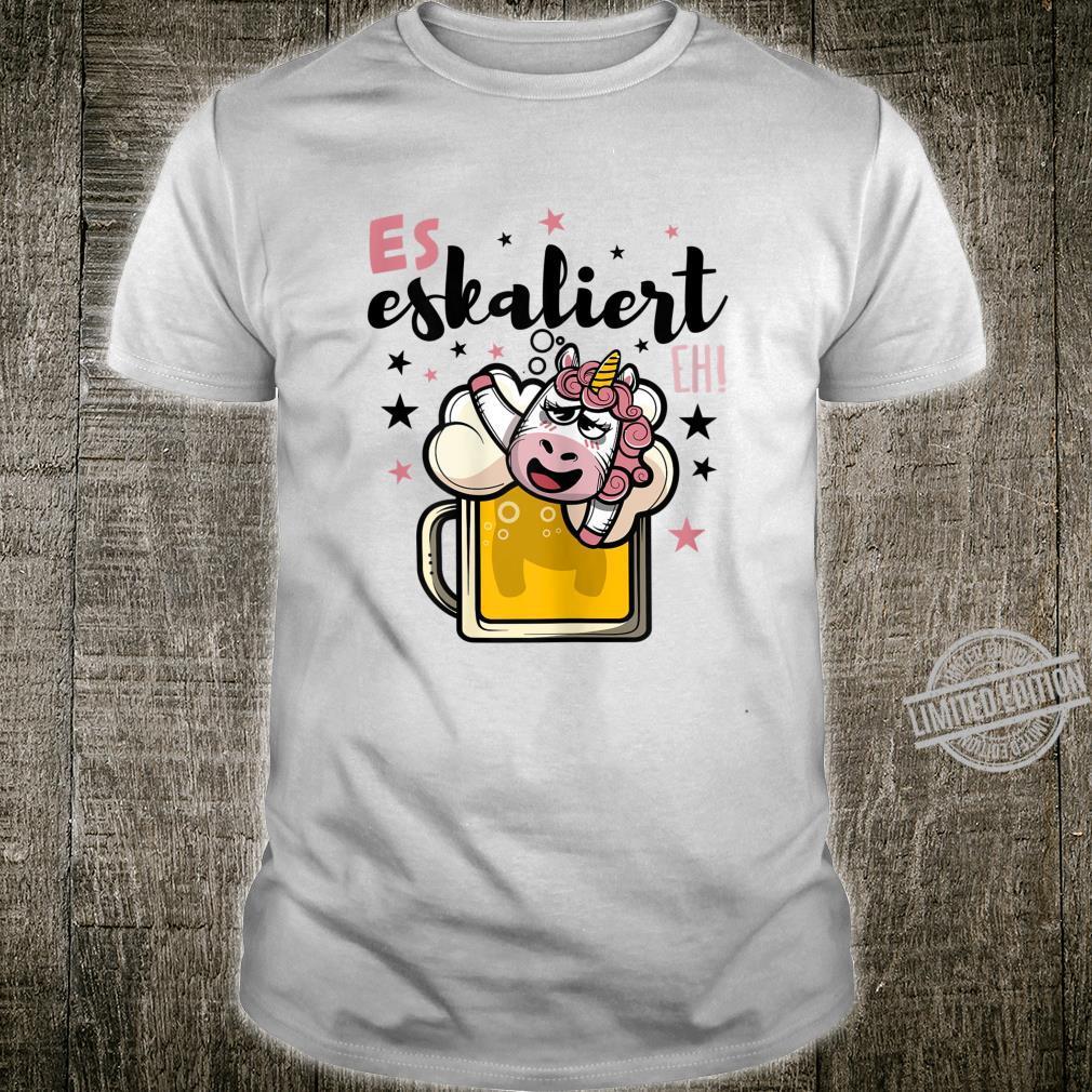 Damen Es Eskaliert Eh Einhorn Bier Disko Festival Party Lustig Shirt
