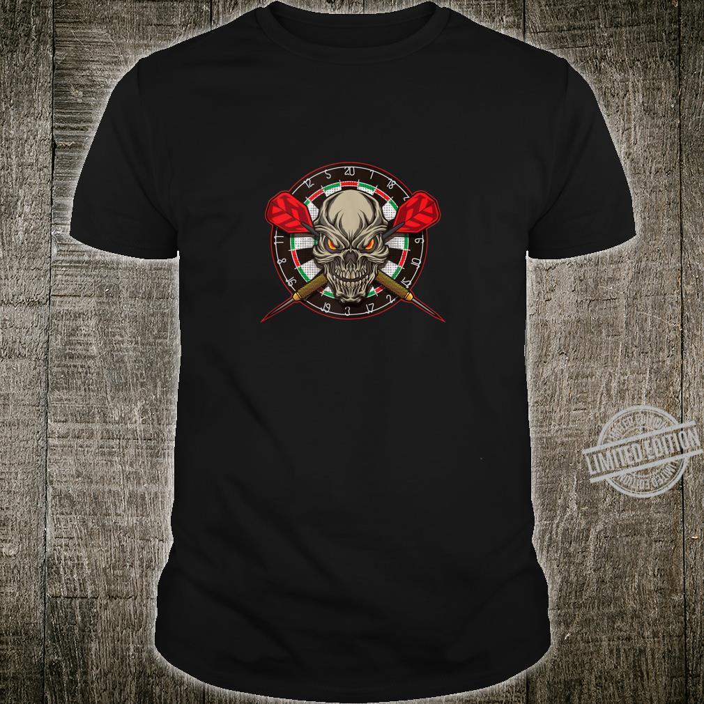 Darts Skull With Arrows And Dart Board Shirt
