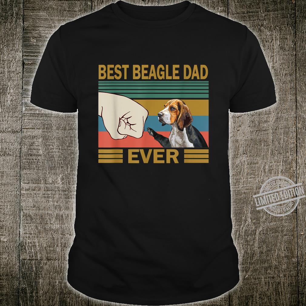 Distressed Best Beagle Dad Ever Fathers Day Shirt