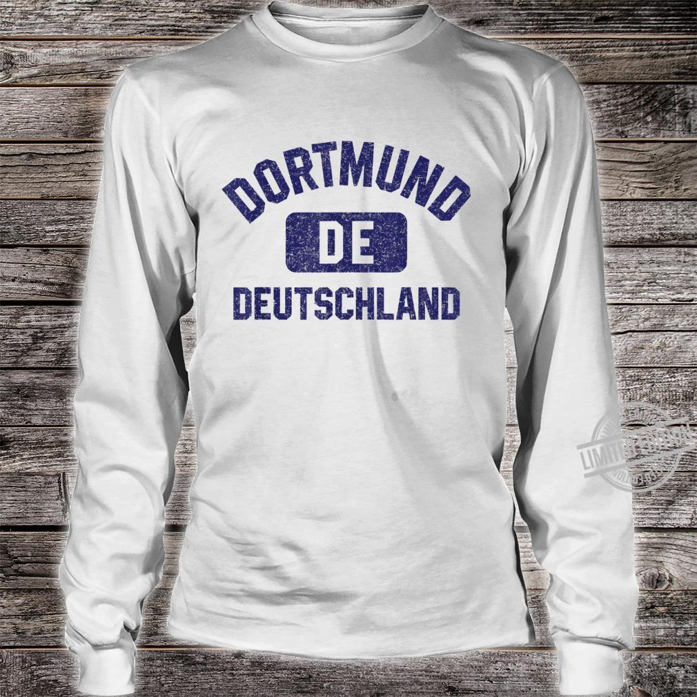 Dortmund DE Turnhall Stil Marineblau Vintage Druck Shirt long sleeved