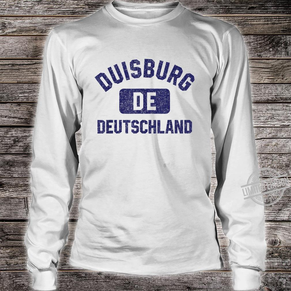 Duisburg DE Turnhall Stil Marineblau Vintage Druck Shirt long sleeved