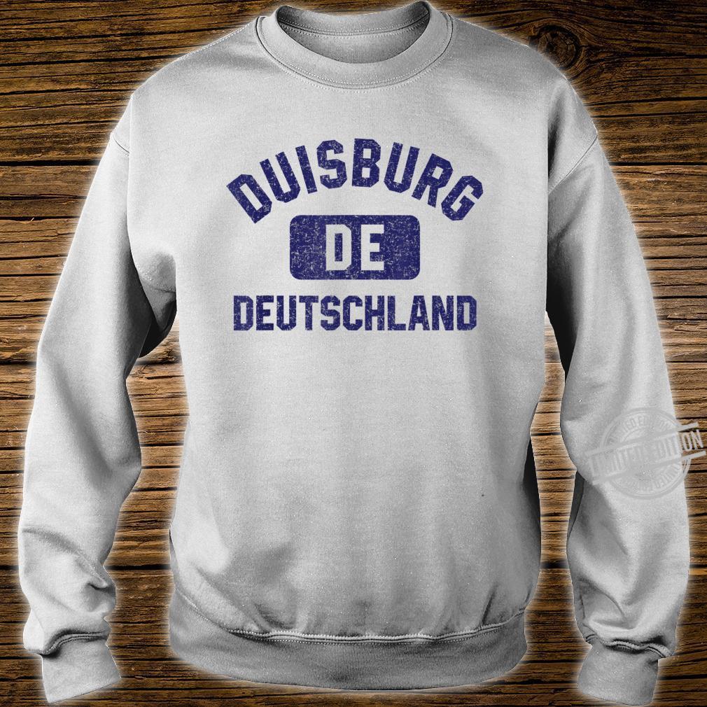 Duisburg DE Turnhall Stil Marineblau Vintage Druck Shirt sweater