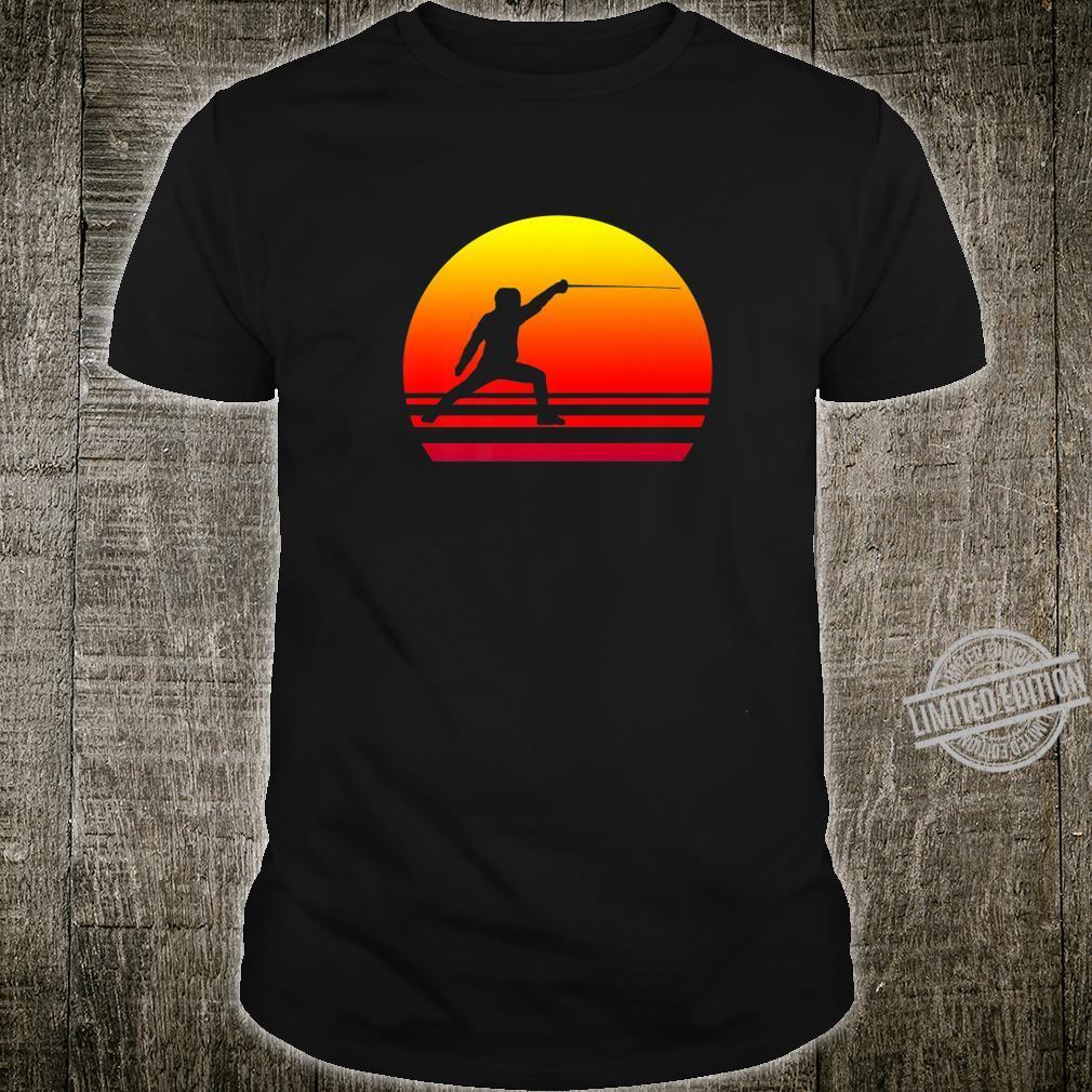 Fencing Sport Sunset Shirt