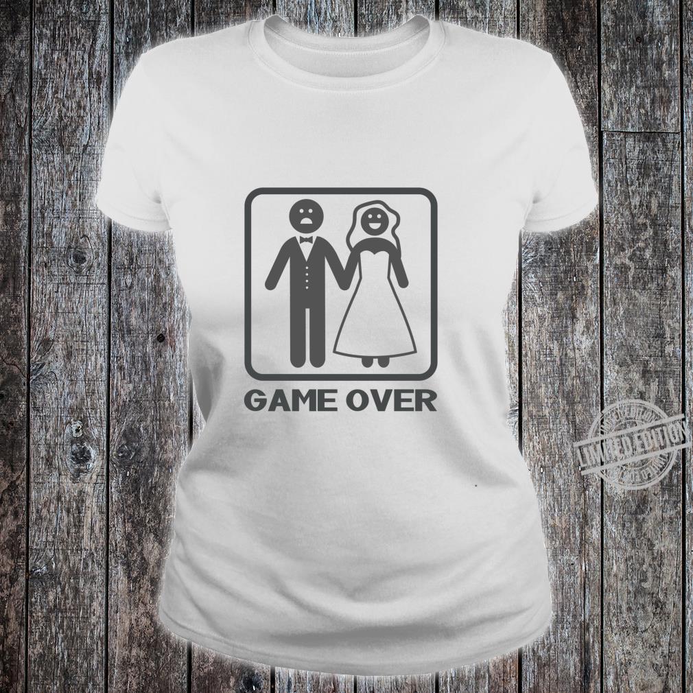 Funny Game Over Langarmshirt Shirt ladies tee