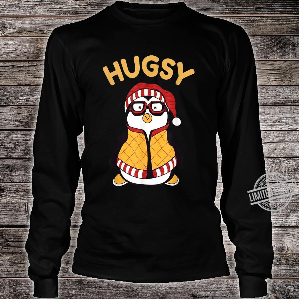 Funny Hugsy Penguin For Friends Thanksgiving Santa Hat Shirt