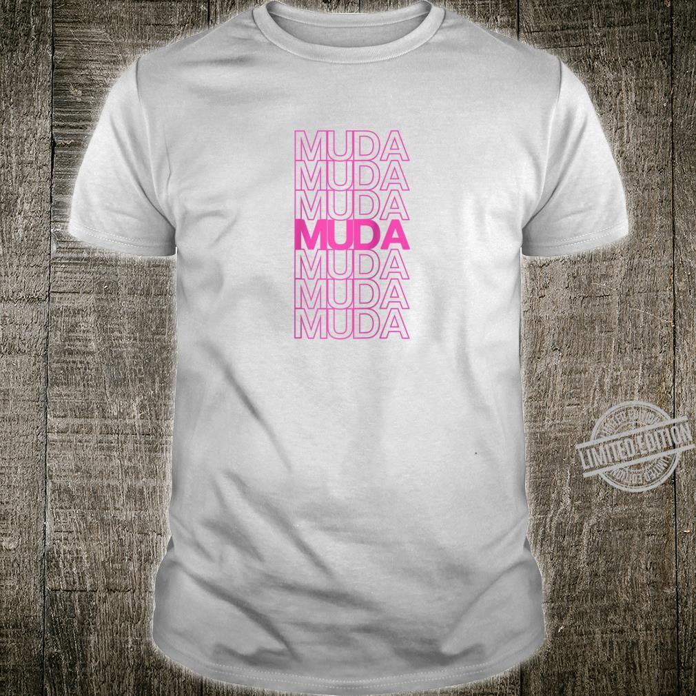 Funny Muda Muda Muda Pink Anime Design Shirt