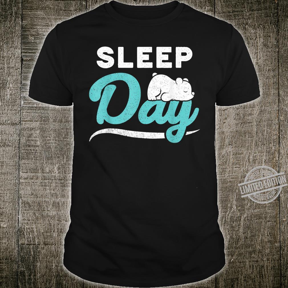 Funny World Sleep Day With Animal Cute Bear Gif Shirt