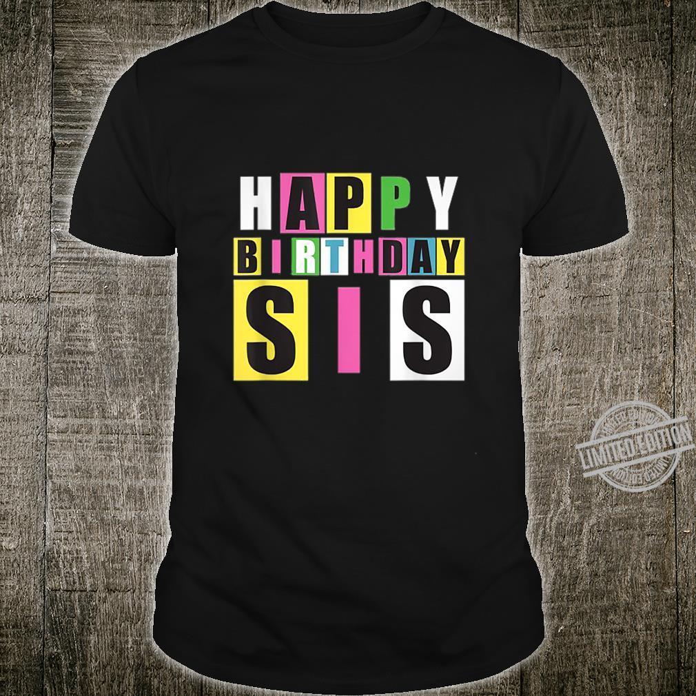 Happy Birthday Sister Retro Shirt