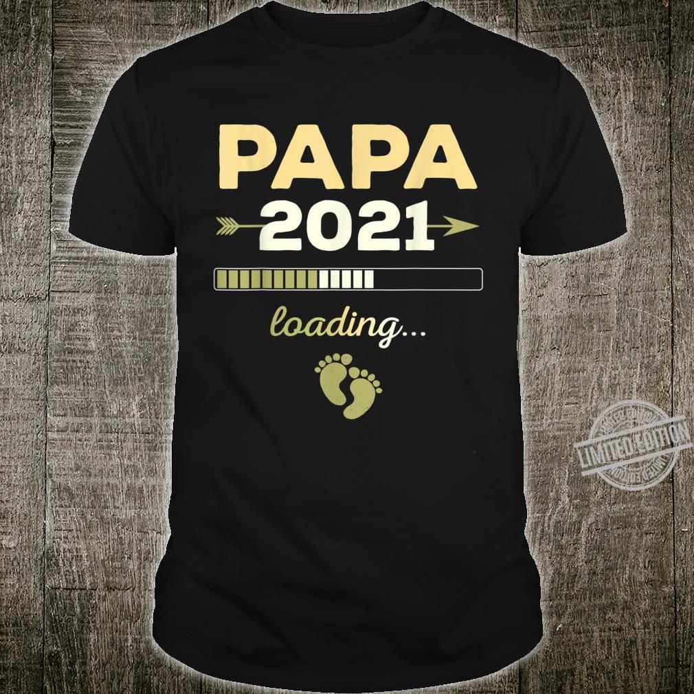 Herren Papa loading 2021 Werdender Vater Eltern Nachwuchs Geschenk Shirt
