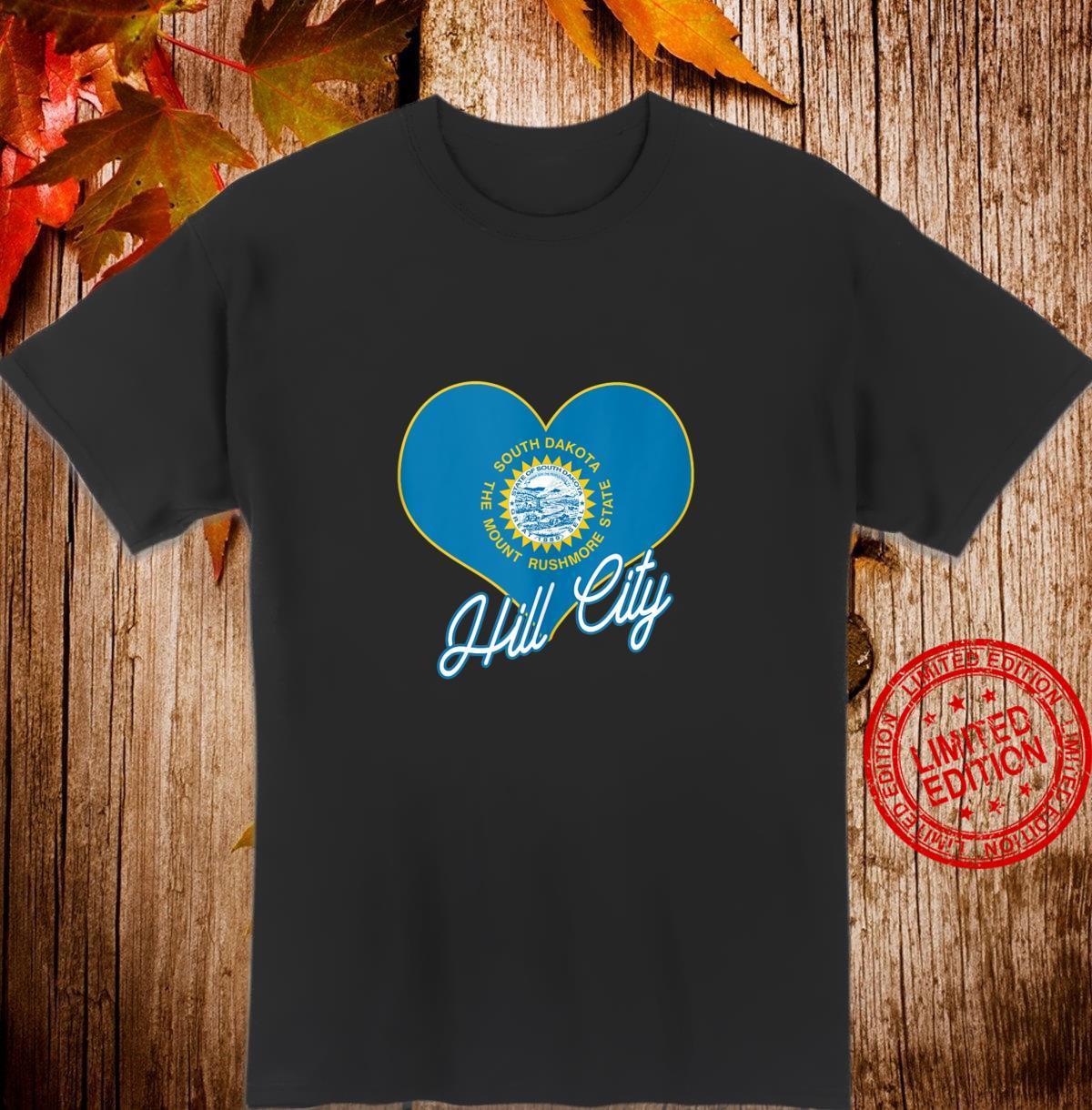 I Love Hill City South Dakota Heart State Flag Novelty Shirt