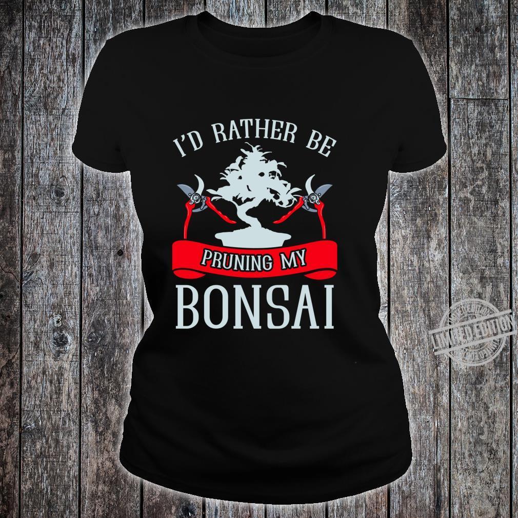 Japanese Bonsai Tree Uniper Shirt ladies tee