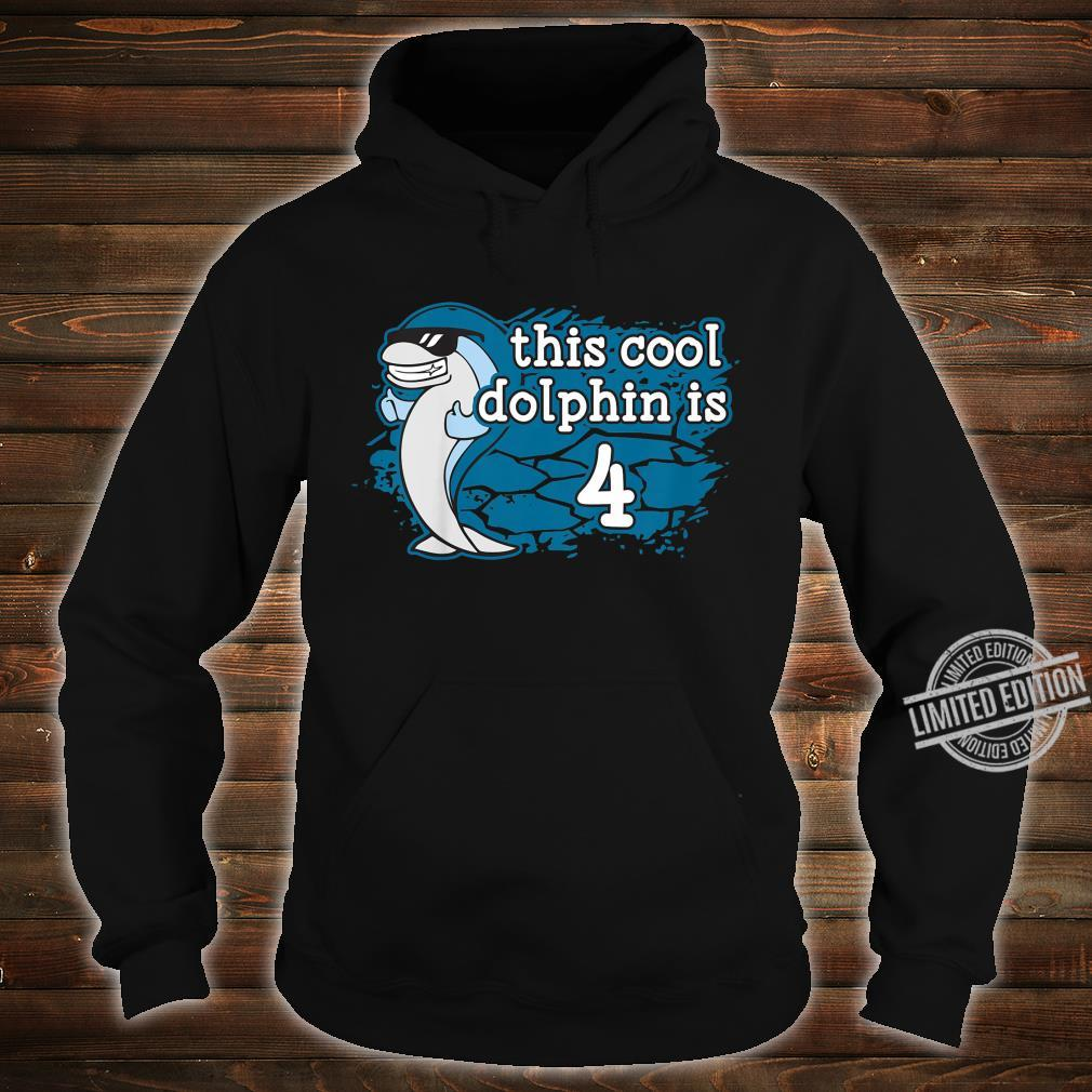 Kids Kid's 4th Fourth Birthday This Cool Dolphin is Four Porpoise Shirt hoodie
