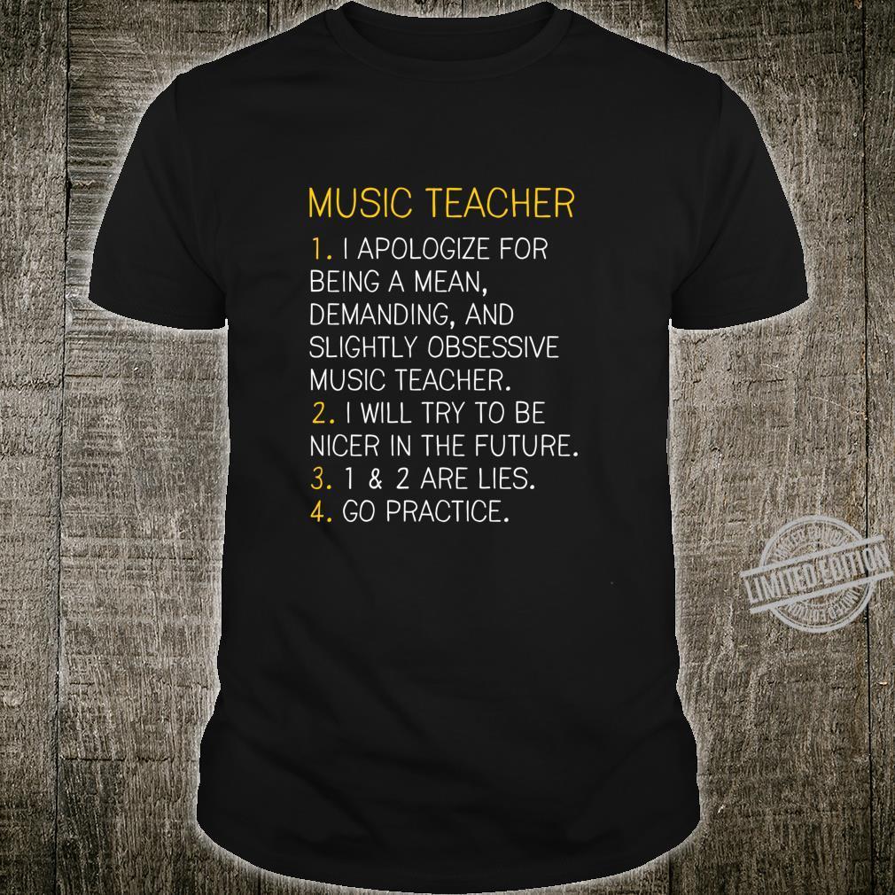 Music Teacher Go Practice Shirt