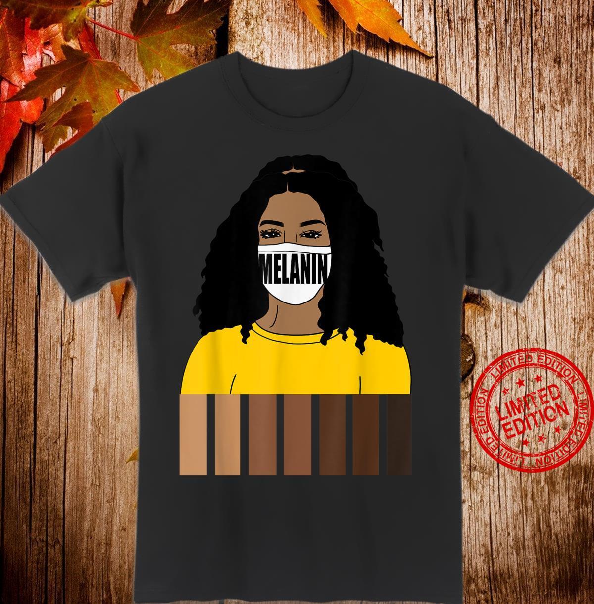 Oheneba Melanin Shades Black Queen Pride Afro Shirt