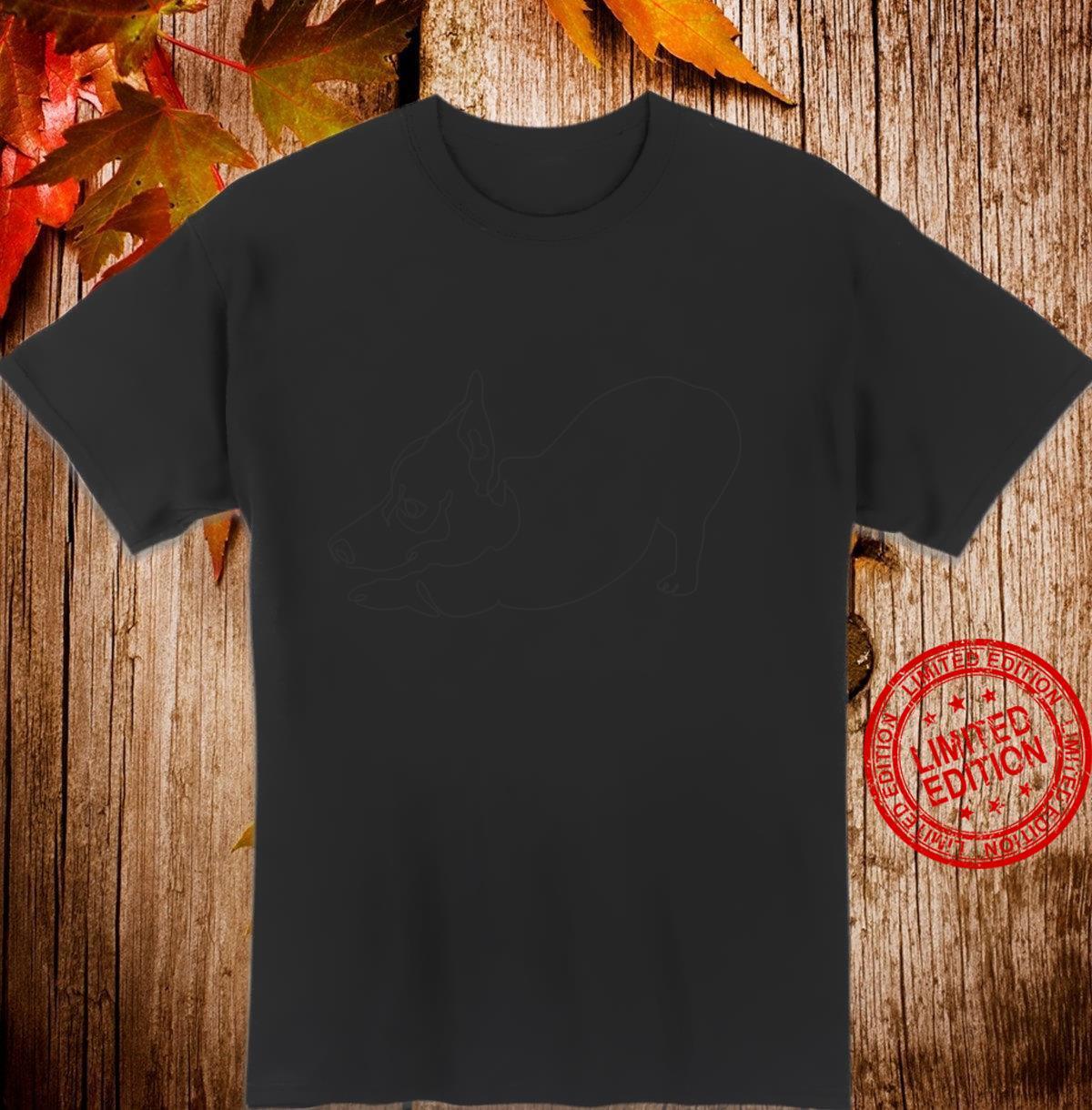 One line Frenchie Downward Dog Shirt