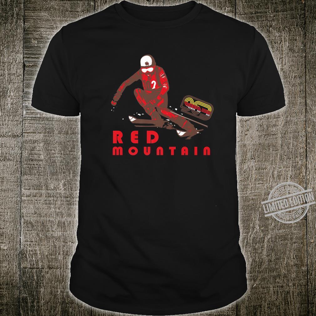 Red Mountain Ski Wintersport Skiing Skier & Shirt