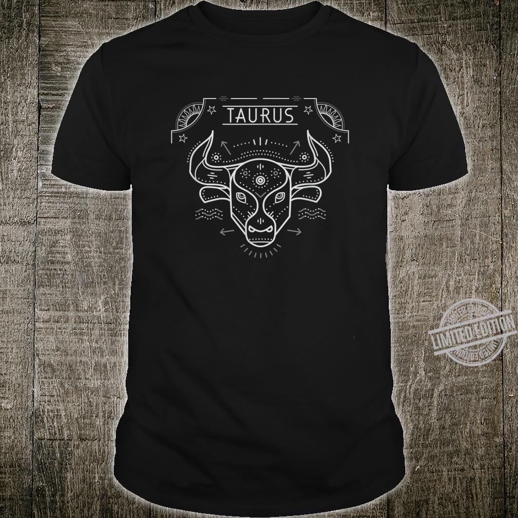 Taurus Zodiac Sign Shirt Birthday Astrology Horoscope Shirt