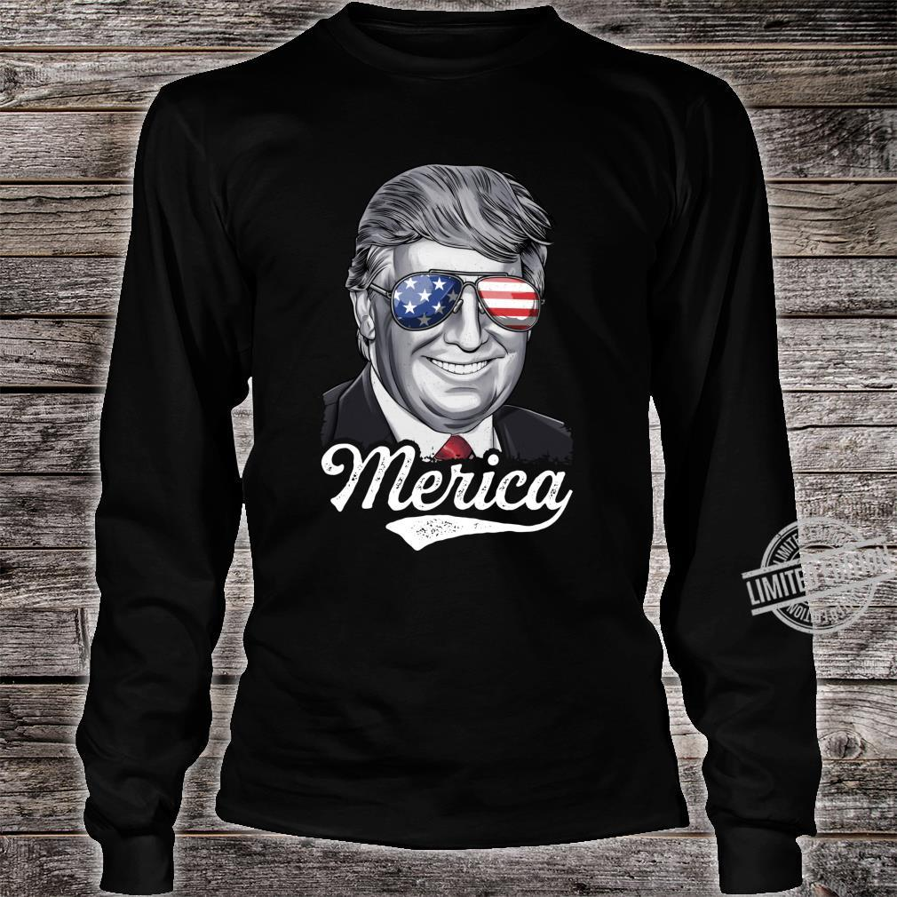 Trump 2020 Merica Election GOP Vintage Presidential Campaign Shirt long sleeved