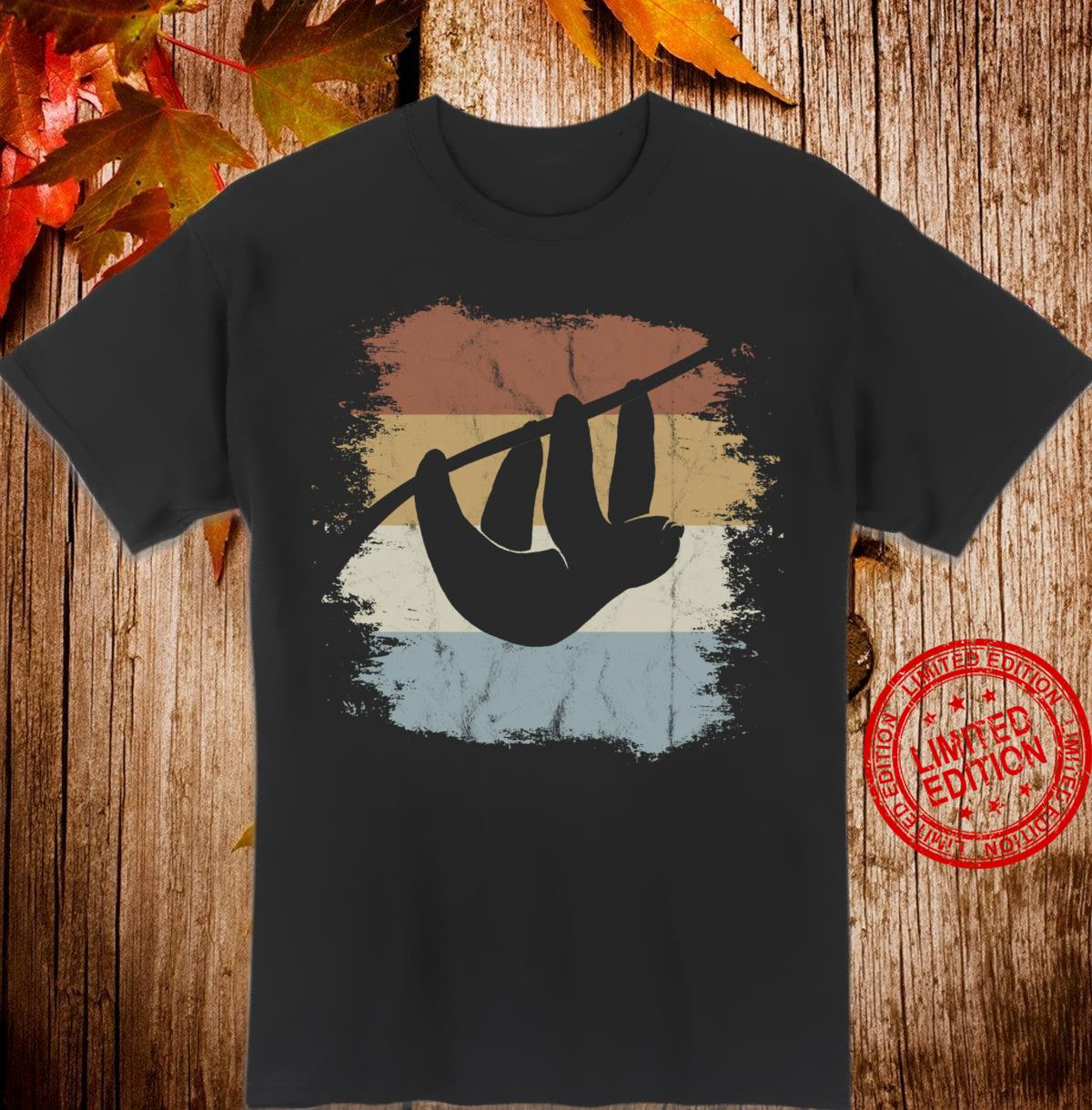 Vintage Style Chill Mal Retro Sloth Silhouette Shirt