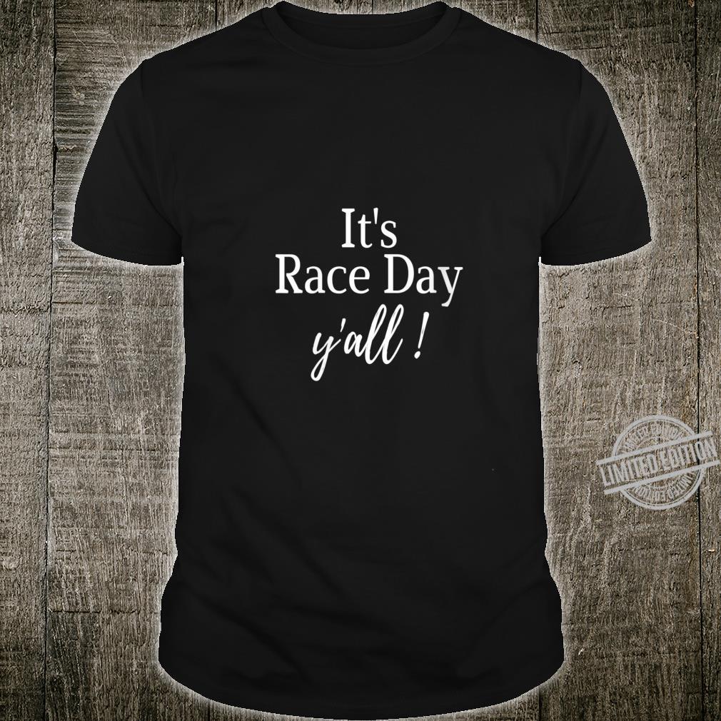 Womens Car Racing Checkered Flag It's Race Day Dirt Track Racing Shirt