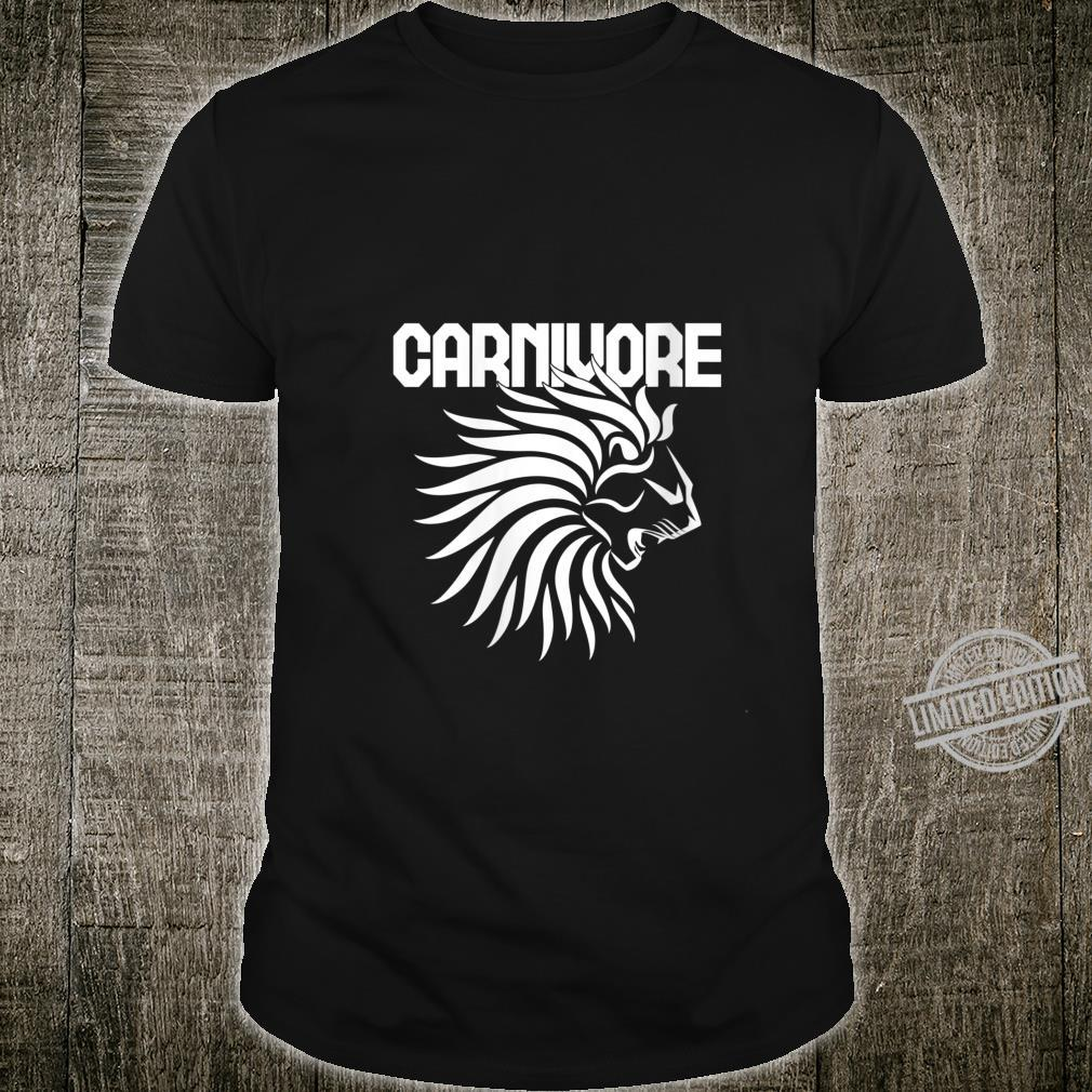 Womens Carnivore Lion Meat Eater Shirt