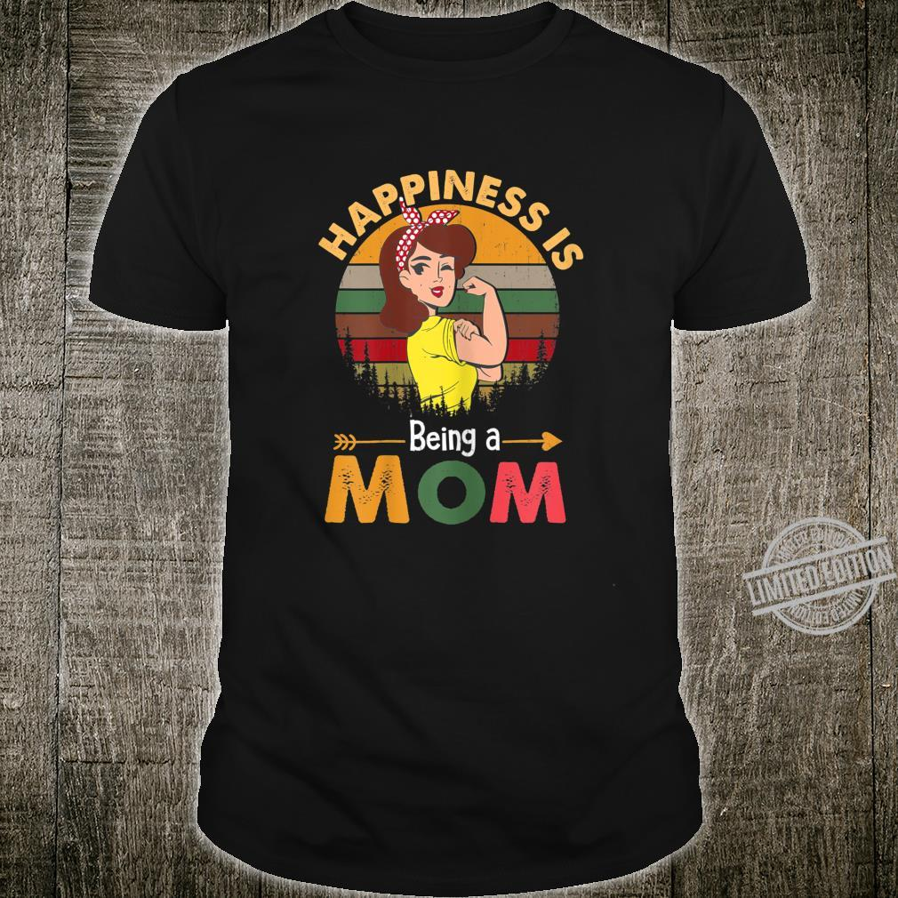Womens Flower Mother's Day Happiness Is Being A Mom Shirt