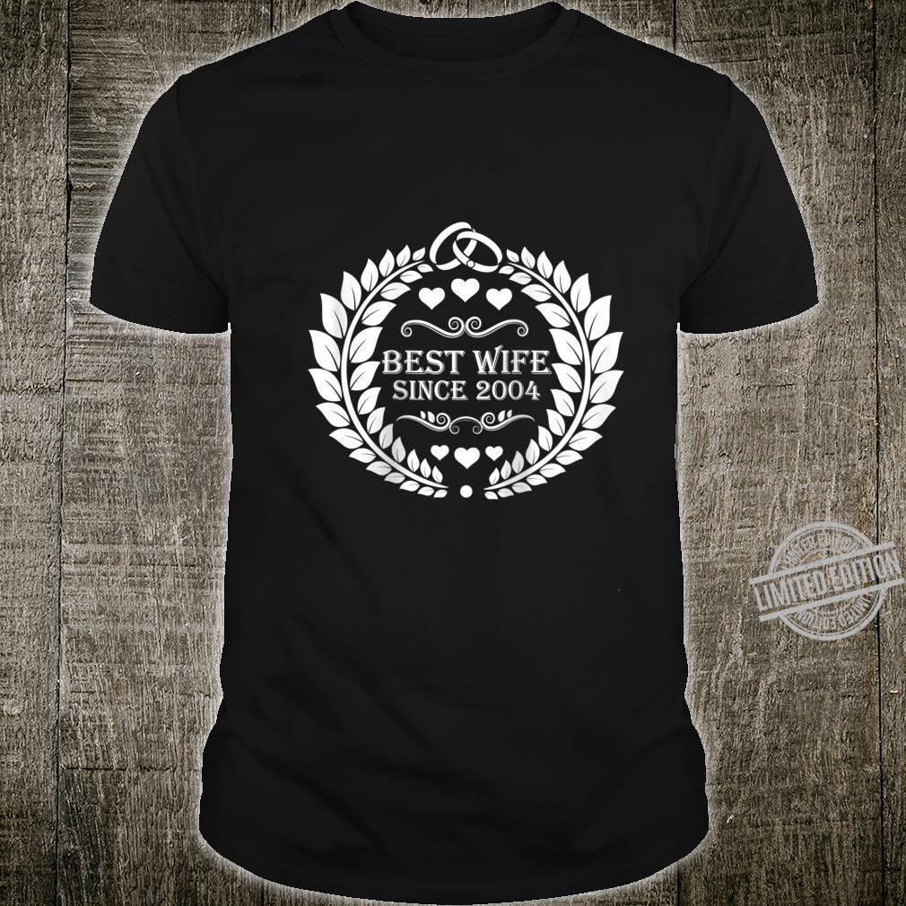 Womens best wife since 2004 16th anniversary for her Shirt